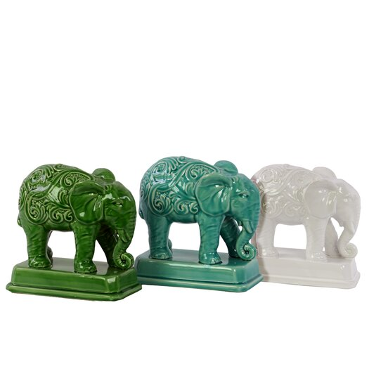 Urban Trends Ceramic Elephant Decor Figurine