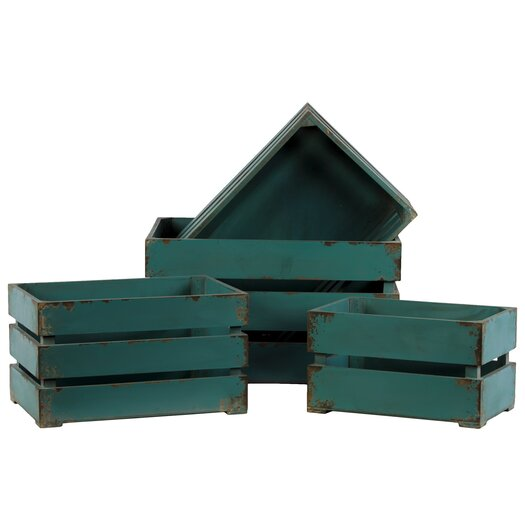 Urban Trends 4 Piece Wooden Storage Box