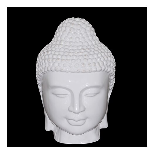 Urban Trends Ceramic Buddha Head Bust