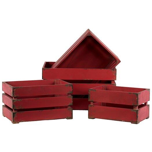 Urban Trends 4 Piece Wooden Storage Box
