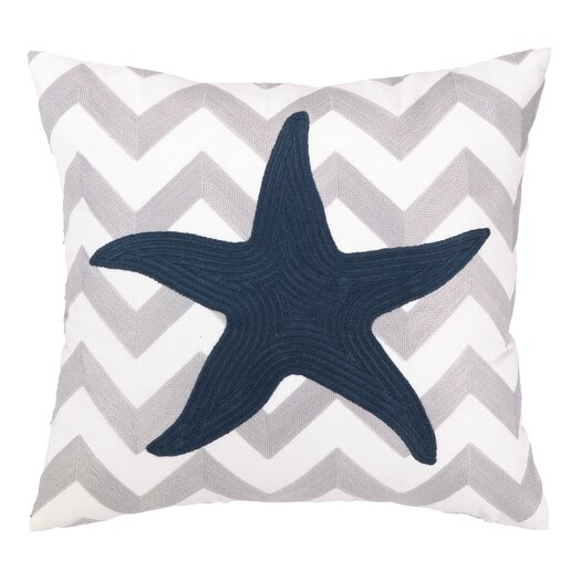 Peking Handicraft Nautical Embroidery Seastar Pillow