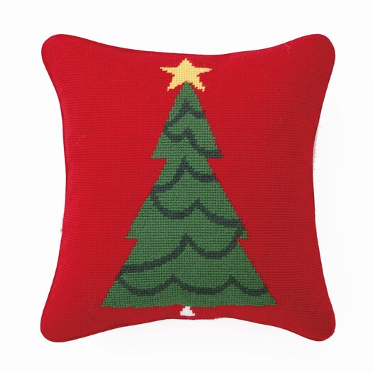 Peking Handicraft Trim a Tree Wool / Cotton Pillow