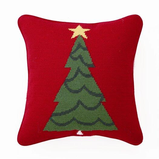 Peking Handicraft Trim a Tree Wool / Cotton Pillow