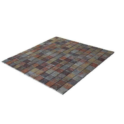 """Onix USA Earth Glass 1"""" x 1"""" Mosaic in Slate"""