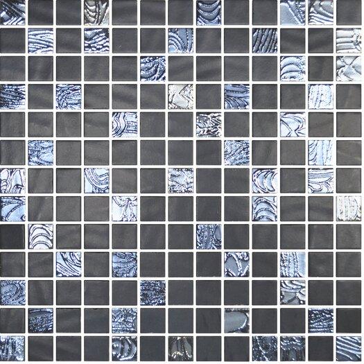"""Onix USA Nature Blend 1"""" x 1"""" Glass Mosaic in Upsala Black"""