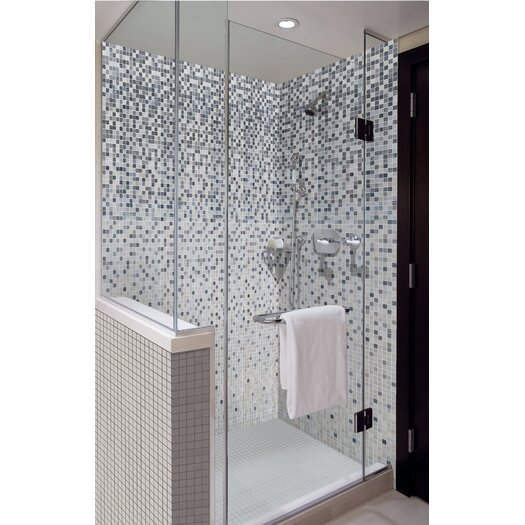 Onix USA Shading Blend Markina Glass Mosaic in White