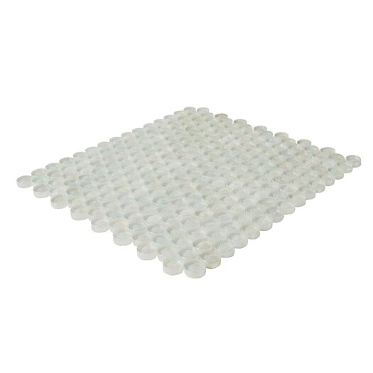 Onix USA Geo Circle Glass Frosted Mosaic in White