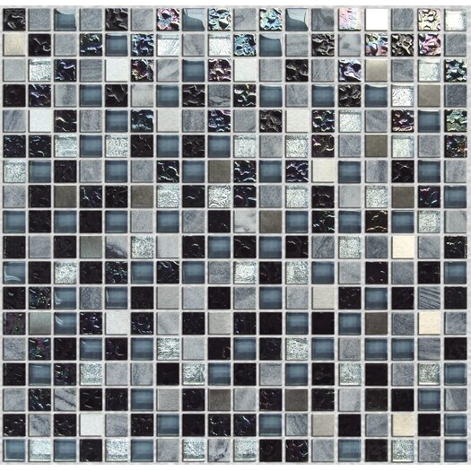 """Onix USA Crystone CS005 3/5"""" x 3/5"""" Stone and Glass Frosted Mosaic in Multicolor"""