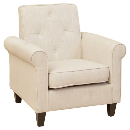 Home Loft Concept Marshall Tufted Fabric Club Chair