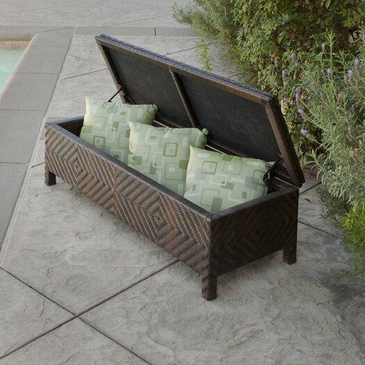 Home Loft Concept Casarano 30 Gallon Wicker Storage Bench