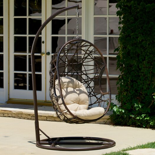 Home Loft Concept Eddy Egg-Shaped Outdoor Swing Chair