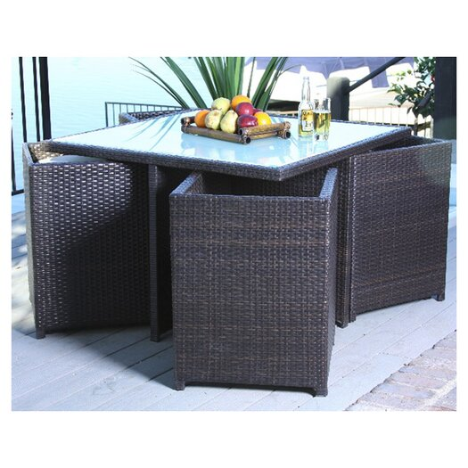 Home Loft Concept Marmont 9 Piece Outdoor Seating Group