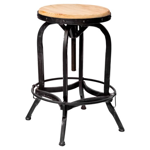 "Home Loft Concept Wright Weathered Oak 26"" Counter Stool"