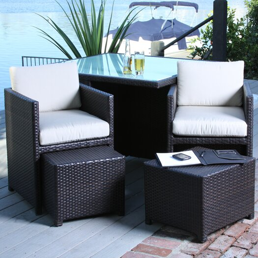 Home Loft Concept Marmont 5 Piece Outdoor Seating Group with Cushions