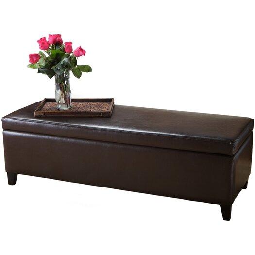 Home Loft Concept Bailey Leather Storage Ottoman