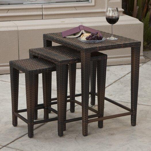Home Loft Concept Santiago 3 Piece Wicker Table Set