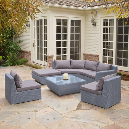 Home Loft Concept Trabuco 6 Piece Deep Seating Group with Grey Cushions