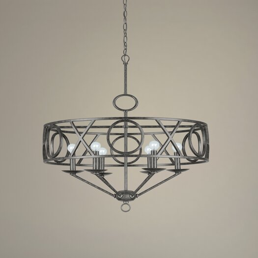 Crystorama Odette Six Light Chandelier in English Bronze
