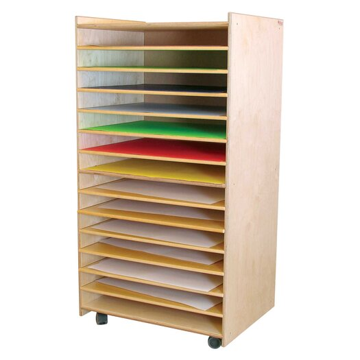 Wood Designs Puzzle and Paper Storage Center