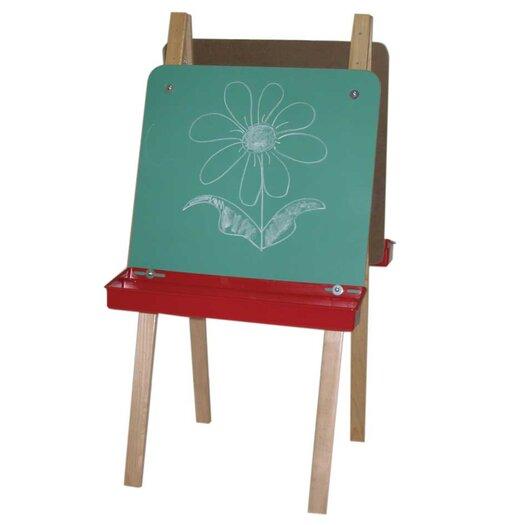 Wood Designs Double Adjustable Easel with Chalkboard