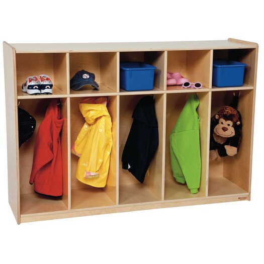 Wood Designs Five Section Tot Locker