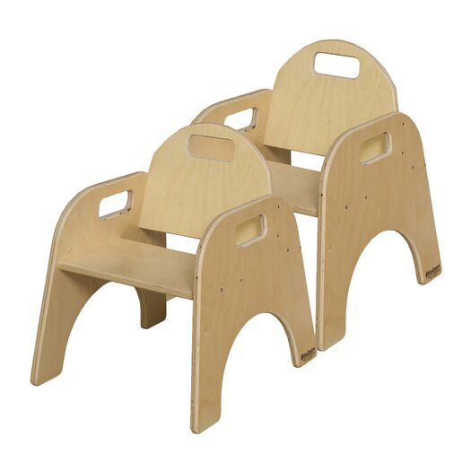 """Wood Designs Woodie 9"""" Plywood Classroom Stackable Tot Chair"""