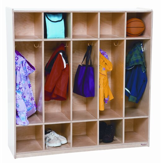 Wood Designs Five Section Locker
