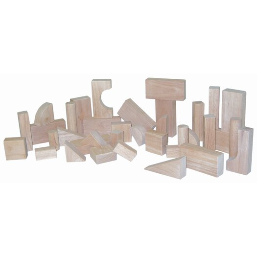Wood Designs 36 Piece Toddler Block Set