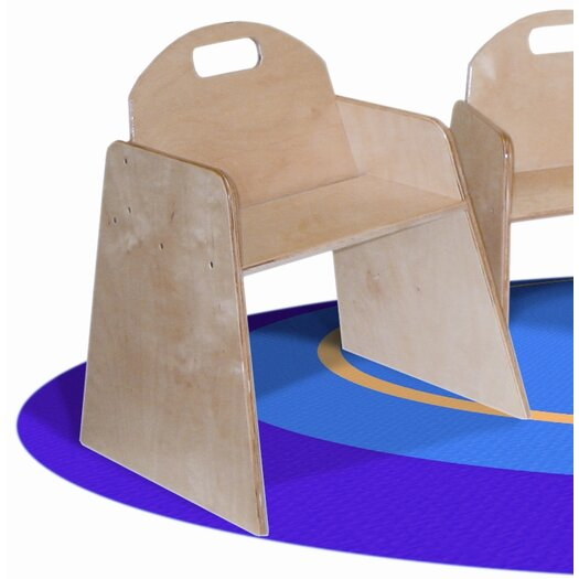 """Wood Designs Woodie 7"""" Plywood Classroom Stackable Tot Chair (Set of 2)"""