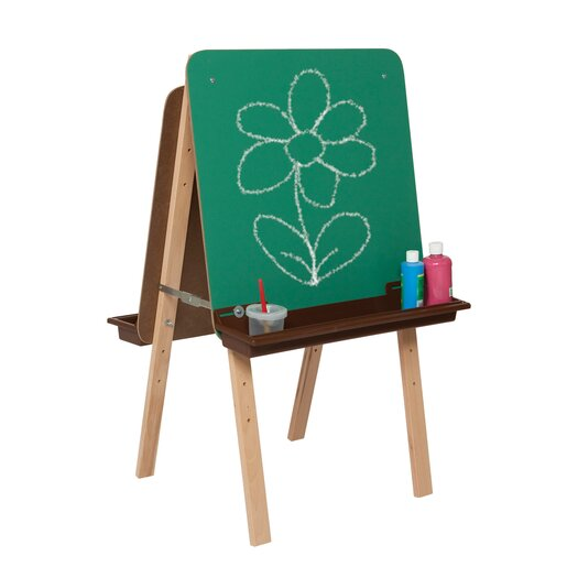 Wood Designs Natural Environment Tot Easel with Brown Tray
