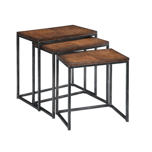 Coast to Coast Imports LLC 3 Piece Nesting Table Set in Brown Cherry
