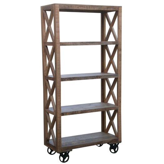 "Coast to Coast Imports LLC 72.5"" Trolley Bookcase"