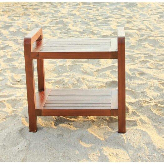 Decoteak Outdoor Teak Bench Shelf or End Table