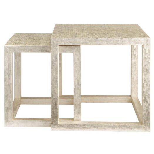 HGTV Home Classic Chic 2 Piece Nesting Table