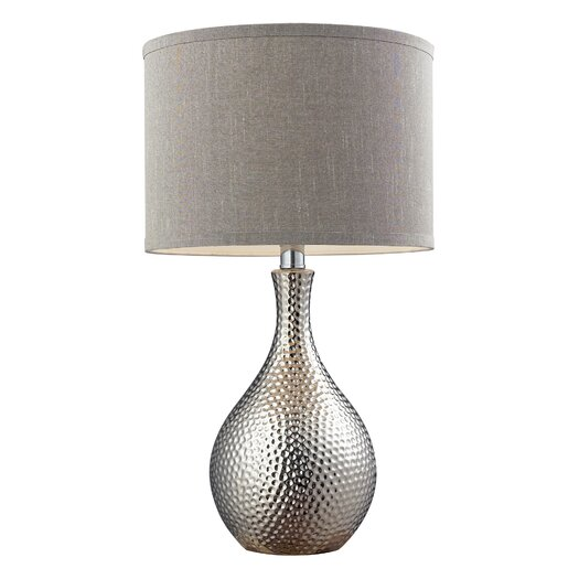 """HGTV Home Overexposed 21.5"""" H Table Lamp with Drum Shade"""