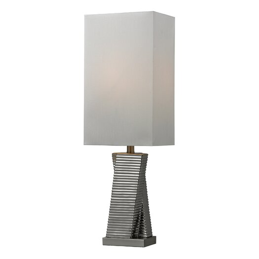 "HGTV Home Graphic Control 30"" H Table Lamp with Rectangular Shade"