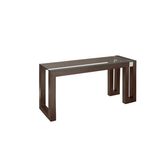 Allan Copley Designs Calligraphy Rectangle Glass Top Console Table