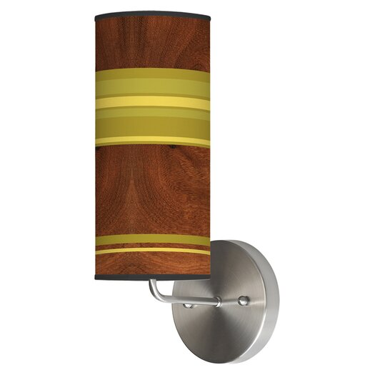 Jef Designs Organic Modern 1 Light Stripey Horizontal Wall Sconce
