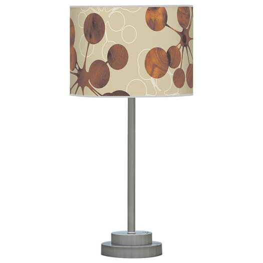 "Jef Designs Organic Modern Bubble Stem 24"" H Table Lamp with Drum Shade"