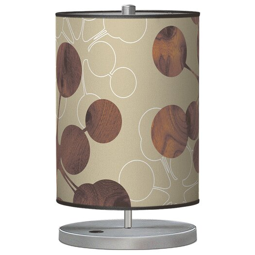 "Jef Designs Organic Modern Bubble Stem 21"" H Table Lamp with Drum Shade"
