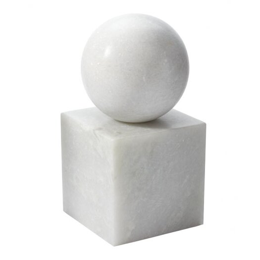 Lazy Susan USA Marble Minimalist Book End