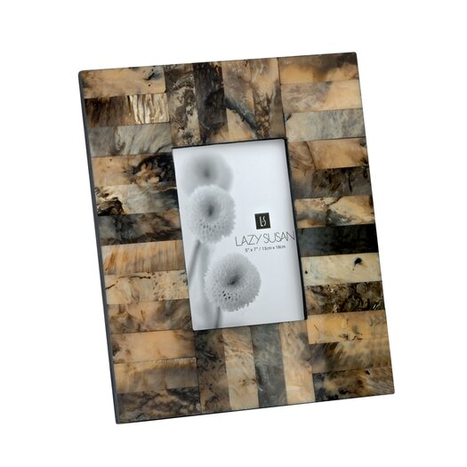 Lazy Susan USA Square Horn and Resin Frame