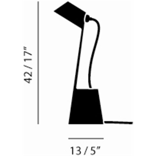 """Tom Dixon Lean 17"""" H Table Lamp with Empire Shade"""