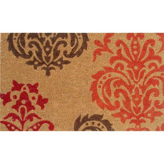 Home & More Orange Baroque Doormat