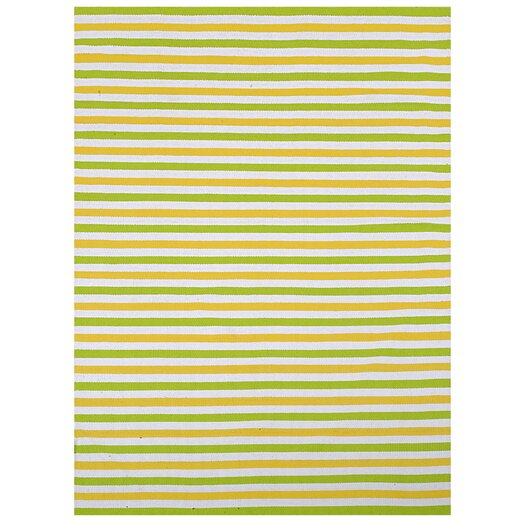 Home & More Lime Stripe Indoor/Outdoor Rug
