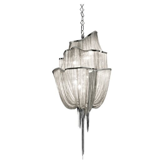 Terzani Atlantis 3 Tier 8 Light Crystal Chandelier