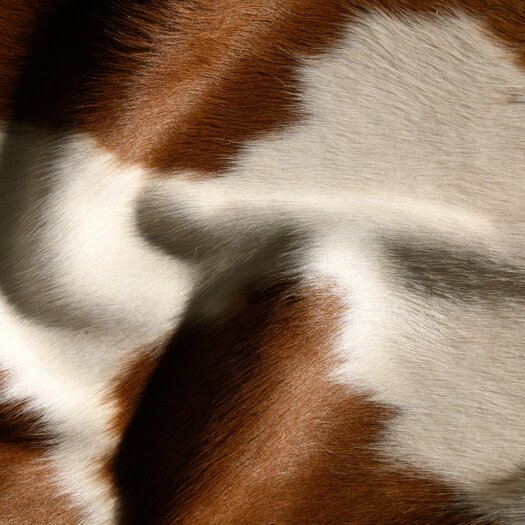 Pure Rugs Natural Cowhide Brown and White Rug
