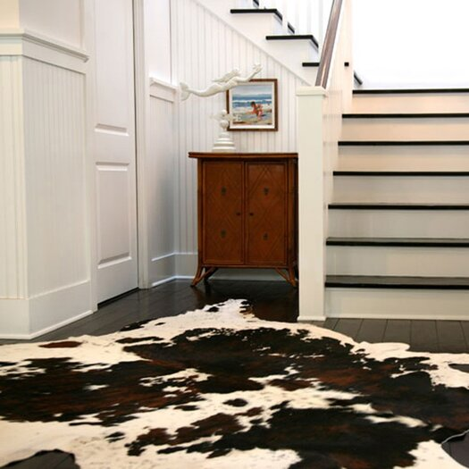 Pure Rugs Natural Cowhide Tri-color Rug