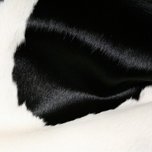 Pure Rugs Natural Cowhide Black and White Rug
