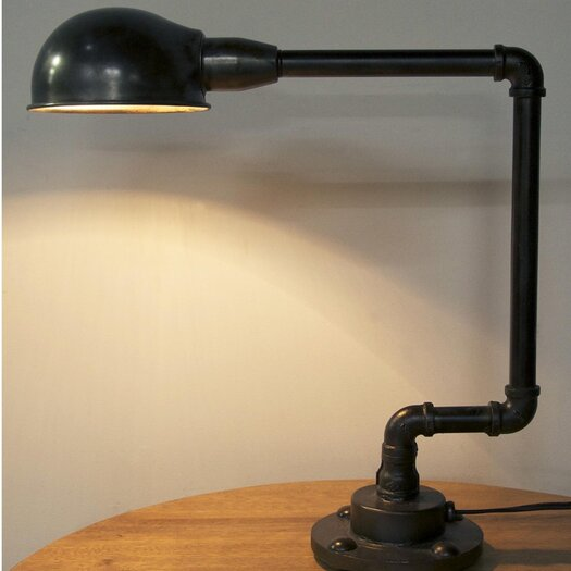 """Noir 18.5"""" H Table Lamp with Bowl Shade"""